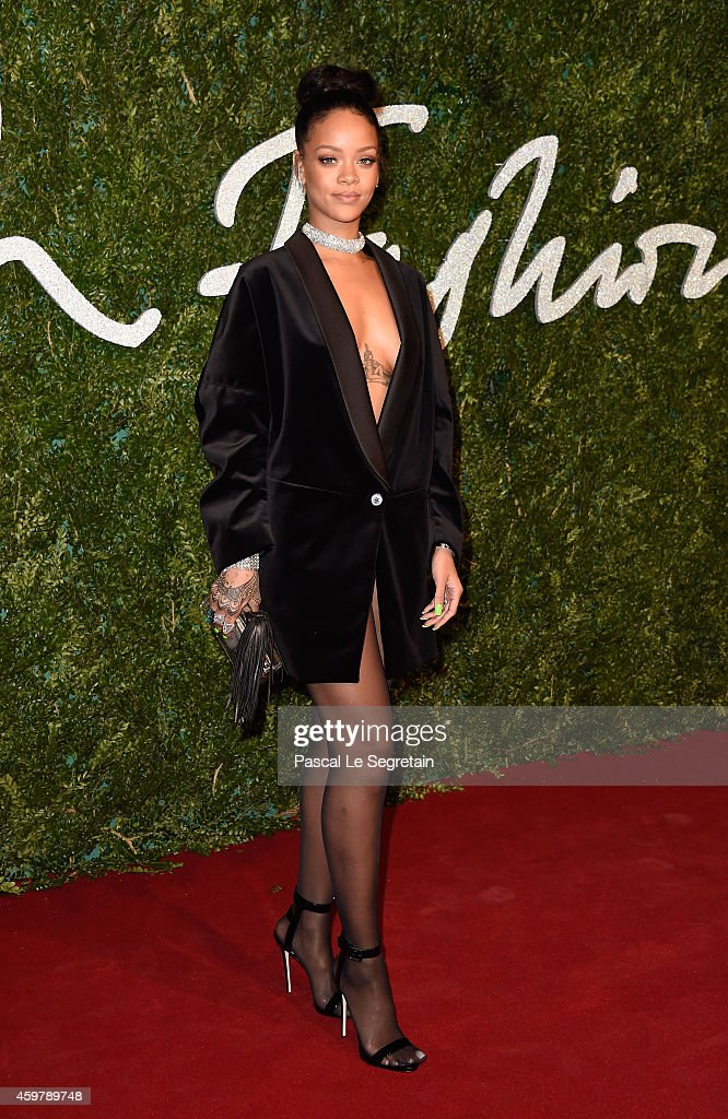 <a gi-track='captionPersonalityLinkClicked' href=/galleries/search?phrase=Rihanna&family=editorial&specificpeople=453439 ng-click='$event.stopPropagation()'>Rihanna</a> attends the British Fashion Awards at London Coliseum on December 1, 2014 in London, England.