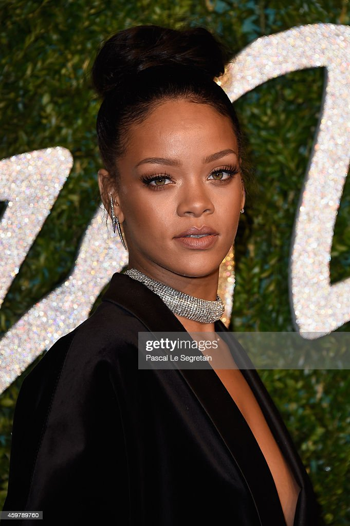 Rihanna attends the British Fashion Awards at London Coliseum on December 1, 2014 in London, England.