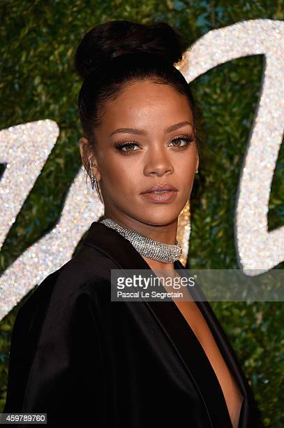 Rihanna attends the British Fashion Awards at London Coliseum on December 1 2014 in London England