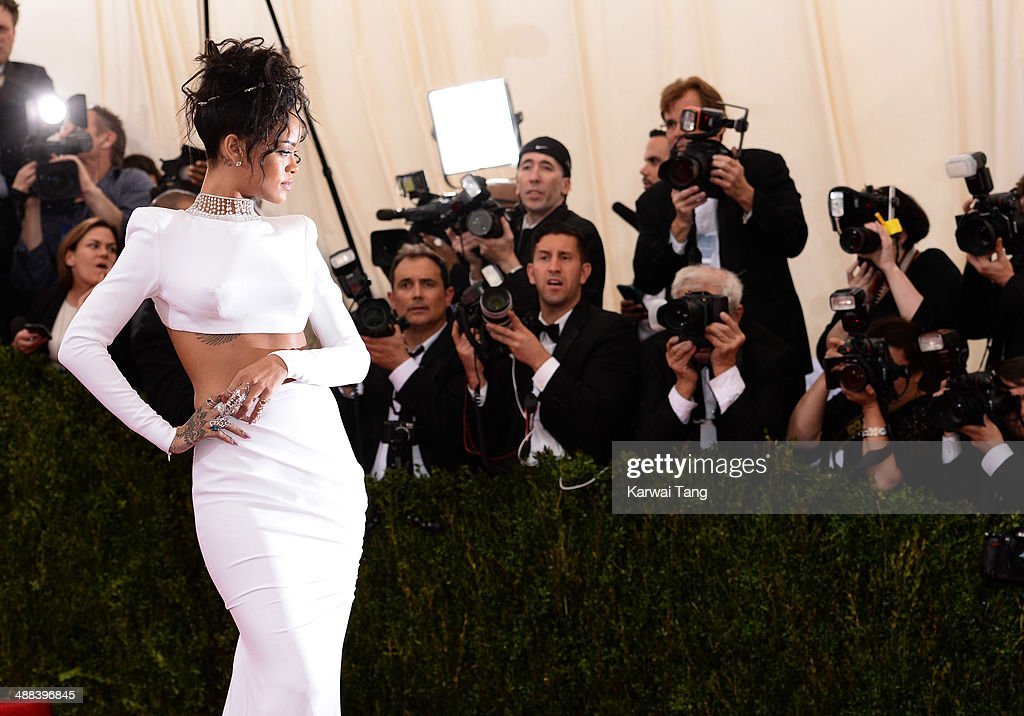 Rihanna attends the 'Charles James: Beyond Fashion' Costume Institute Gala held at the Metropolitan Museum of Art on May 5, 2014 in New York City.