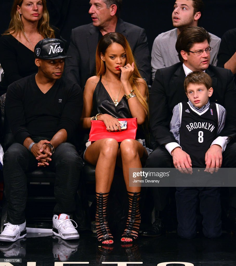 Rihanna attends the Chicago Bulls Vs Brooklyn Nets Playoff Game at the Barclays Center on May 4, 2013 in the Brooklyn borough of New York City.