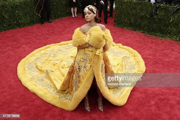 Rihanna attends the 'China Through The Looking Glass' Costume Institute Benefit Gala at the Metropolitan Museum of Art on May 4 2015 in New York City