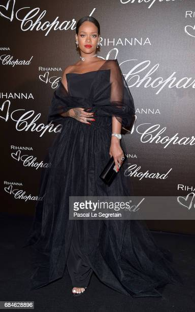 Rihanna attends the Chopard dinner in honour of her and the Rihanna X Chopard Collection during the 70th annual Cannes Film Festival on the Chopard...