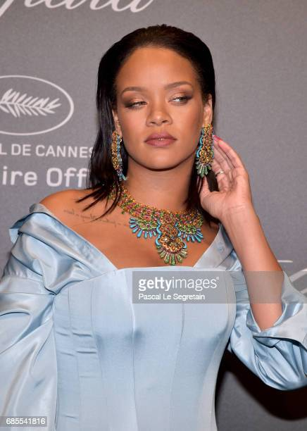 "Rihanna attends the Chopard ""SPACE Party"" hosted by Chopard's copresident Caroline Scheufele and Rihanna at Port Canto on May 19 in Cannes France"