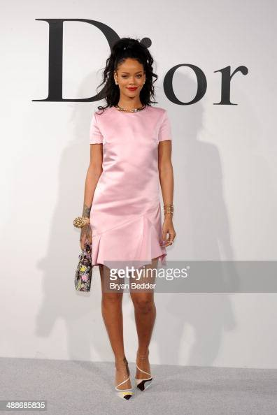 Rihanna attends the Christian Dior Cruise 2015 Show on May 7 2014 in Brooklyn New York City