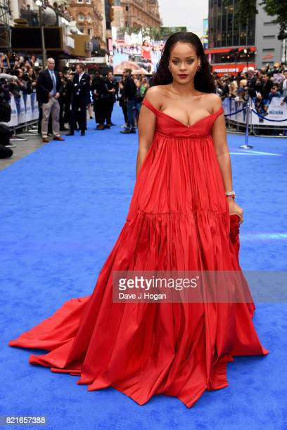 Rihanna attends the European premiere of 'Valerian and The City of a Thousand Planets' at Cineworld London on July 24 2017 in London England