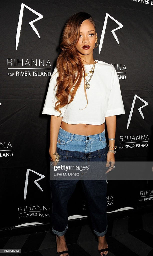 Rihanna attends the exclusive after party following the launch of her Rihanna For River Island collection at DSTRKT on March 4, 2013 in London, England.