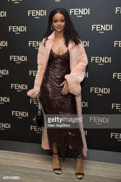 Rihanna attends the Fendi Celebration Dinner of the Flagship Store Opening at the Park Hyatt New York on February 13 2015 in New York United States