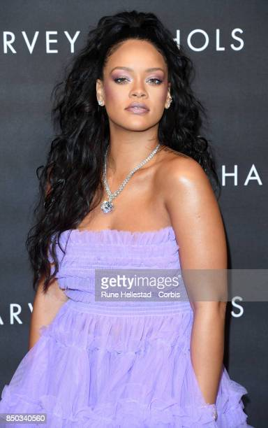 Rihanna attends the 'FENTY Beauty' by Rihanna launch at Harvey Nichols Knightsbridge on September 19 2017 in London England