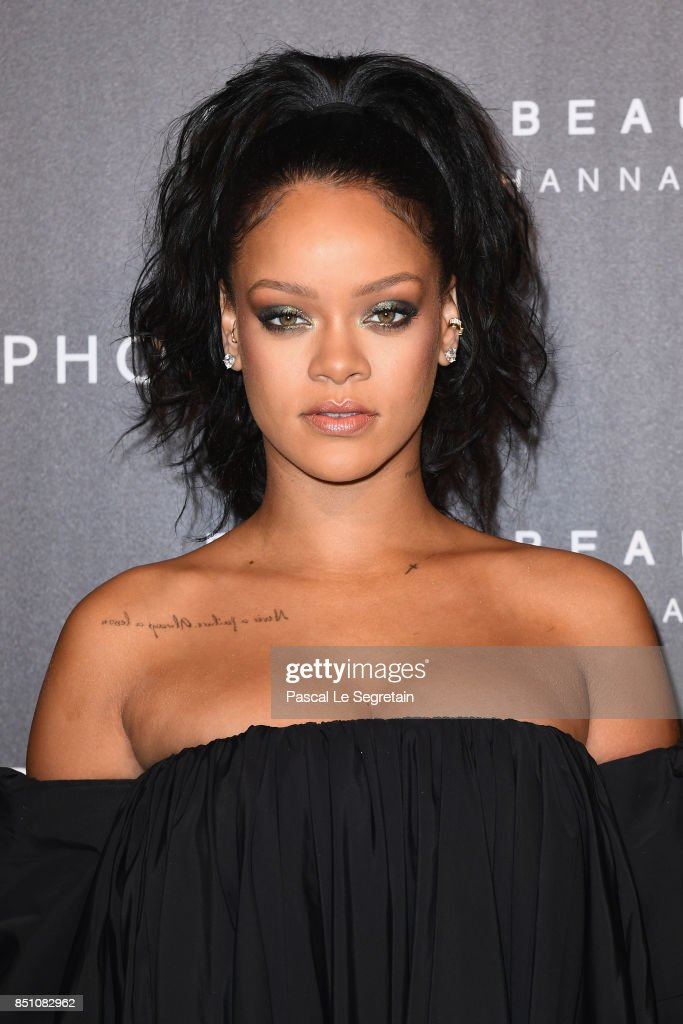 Rihanna attends the Fenty Beauty by Rihanna Paris launch party hosted by Sephora at Jardin des Tuileries on September 21, 2017 in Paris, France.