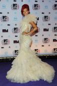 Rihanna attends the MTV Europe Music Awards 2010 at La Caja Magica on November 7 2010 in Madrid Spain