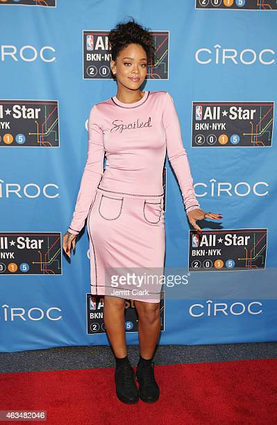 Rihanna attends the NBA AllStar Saturday Night Powered By CIROC Vodka at Barclays Center on February 14 2015 in New York City