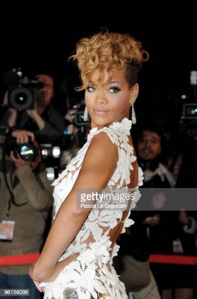 Rihanna attends the NRJ Music Awards 2010 at Palais des Festivals on January 23 2010 in Cannes France