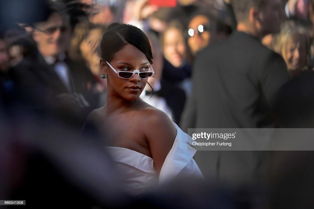 Rihanna attends the 'Okja' screening during the 70th annual Cannes Film Festival at Palais des Festivals on May 19, 2017 in Cannes, France. on May 19, 2017 in Cannes, France. Celebrities, fans and the movie world have descended on Cannes for this year's festival of the screen. For seventy years The Croisette Boulevard has always been the centre of athe place watch the rich and dandy and people from all walks of life to promenade.
