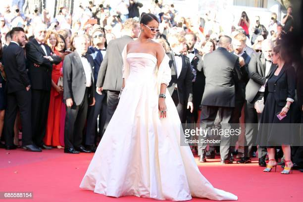 Rihanna attends the 'Okja' screening during the 70th annual Cannes Film Festival at Palais des Festivals on May 19 2017 in Cannes France