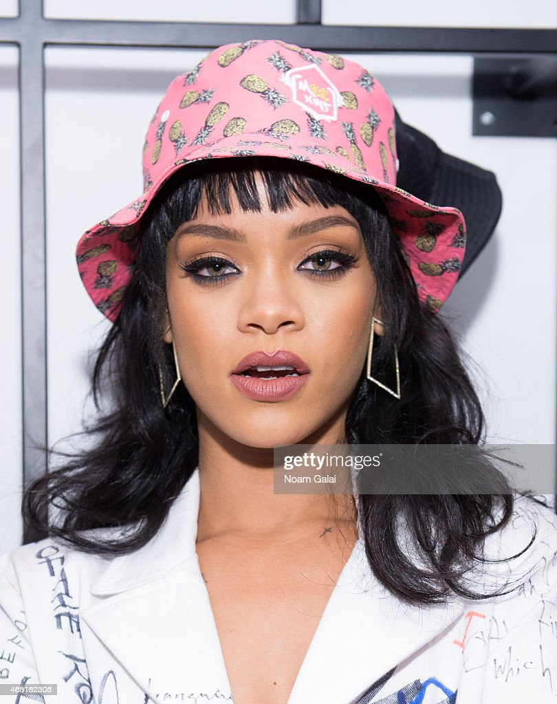 <a gi-track='captionPersonalityLinkClicked' href=/galleries/search?phrase=Rihanna&family=editorial&specificpeople=453439 ng-click='$event.stopPropagation()'>Rihanna</a> attends the Opening Ceremony 'M$$ X WT' launch event at Opening Ceremony on March 30, 2015 in New York City.