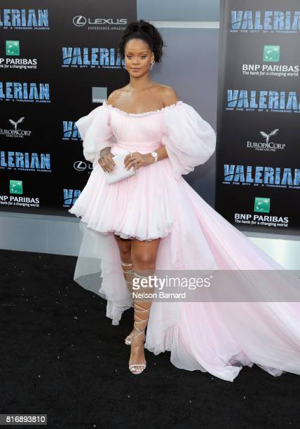 Rihanna attends the premiere of EuropaCorp and STX Entertainment's 'Valerian and The City of a Thousand Planets' at TCL Chinese Theatre on July 17...