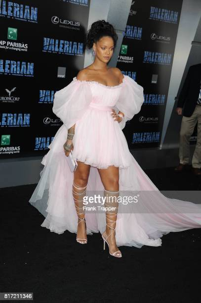 Rihanna attends the premiere of EuropaCorp and STX Entertainment's 'Valerian and The City of a Thousand Planets' held at TCL Chinese Theatre on July...