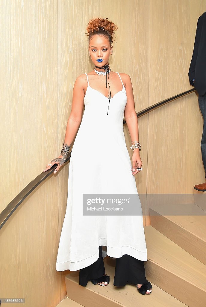 <a gi-track='captionPersonalityLinkClicked' href=/galleries/search?phrase=Rihanna&family=editorial&specificpeople=453439 ng-click='$event.stopPropagation()'>Rihanna</a> attends the <a gi-track='captionPersonalityLinkClicked' href=/galleries/search?phrase=Rihanna&family=editorial&specificpeople=453439 ng-click='$event.stopPropagation()'>Rihanna</a> Party at The New York Edition on September 10, 2015 in New York City.