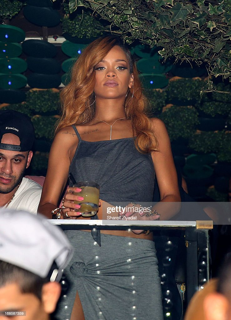 Rihanna attends the Rihanna's World Tour after party at Greenhouse on May 7 2013 in New York City