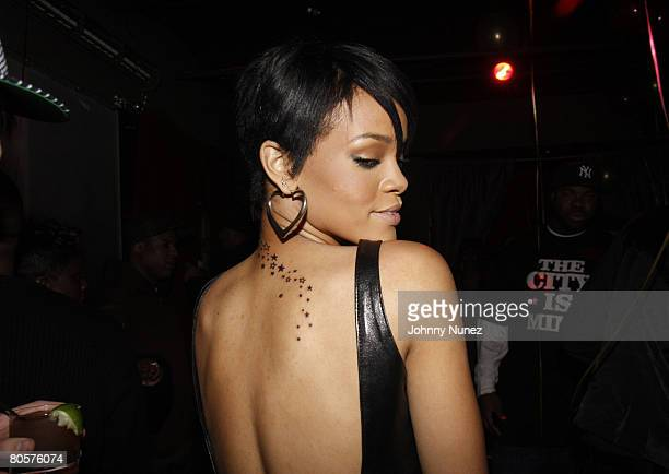 Rihanna attends the Surprise Birthday Party For Melissa Forde Hosted by Hollywood Chuck and Rihanna April 8 2008 New York City NY