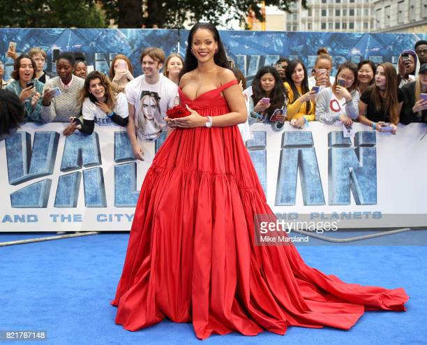 Rihanna attends the 'Valerian And The City Of A Thousand Planets' European Premiere at Cineworld Leicester Square on July 24 2017 in London England