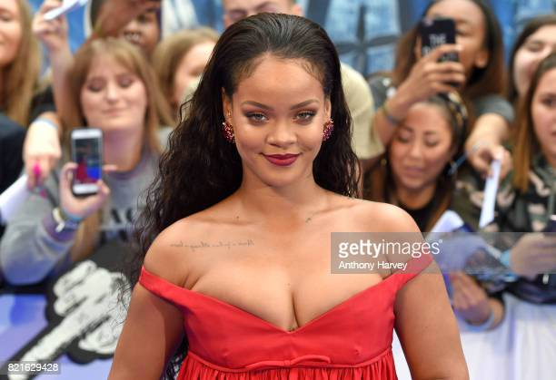 Rihanna attends the 'Valerian' European premiere at Cineworld Leicester Square on July 24 2017 in London England
