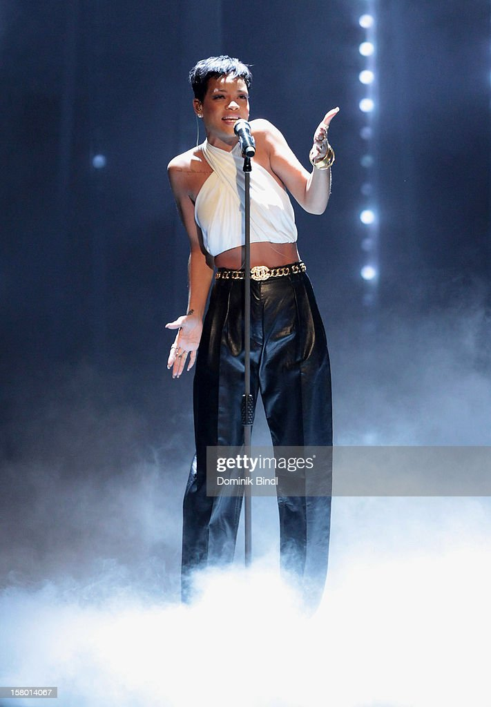 Rihanna attends 'Wetten dass..?' From Freiburg on December 8, 2012 in Freiburg im Breisgau, Germany.