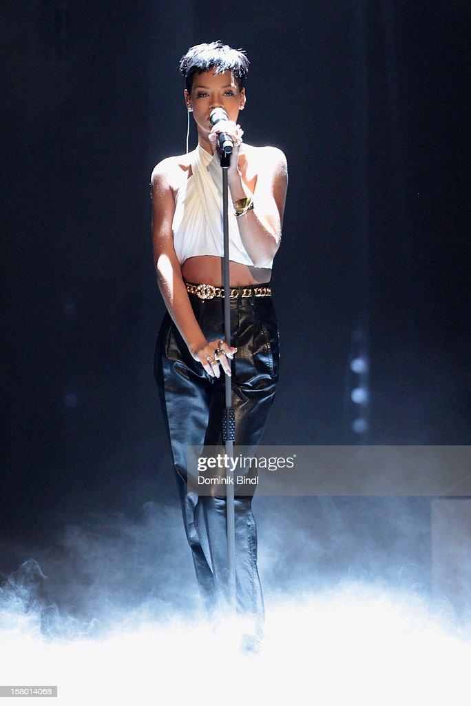 Rihanna attends 'Wetten dass..?' From Freiburg on December 8, 2012 in Freiburg im Breisgau, Germany.