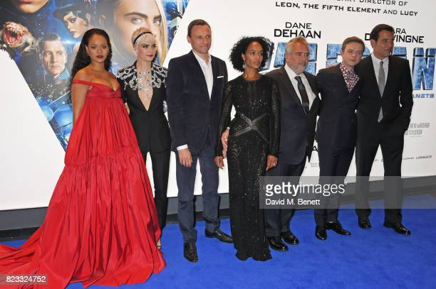 Rihanna Cara Delevingne Zygi Kamasa producer Virginie BessonSilla director Luc Besson Dane DeHaan and Clive Owen attend the European Premiere of...