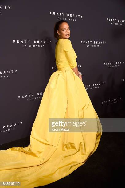Rihanna celebrates the launch of Fenty Beauty at Duggal Greenhouse on September 7 2017 in the Brooklyn borough of New York City New York