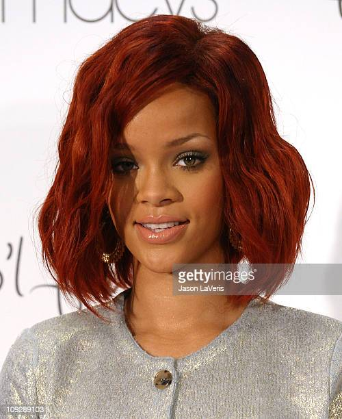 Rihanna celebrates the launch of her first fragrance 'Reb'l Fleur' at Macy's Lakewood Mall on February 18 2011 in Lakewood California