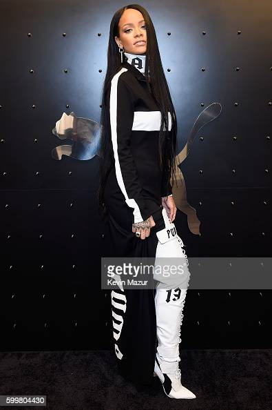 Rihanna celebrates the opening of the FENTY PUMA by Rihanna popup shops powered by SIX02 on September 6 2016 in New York City