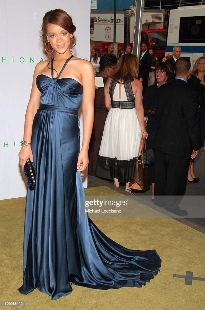 Rihanna during 2006 CFDA Awards Arrivals at New York Public Library in New York City New York United States