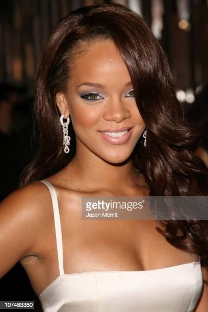 Rihanna during 2006 MTV Video Music Awards MTV News Red Carpet at Radio City Music Hall in New York City New York United States