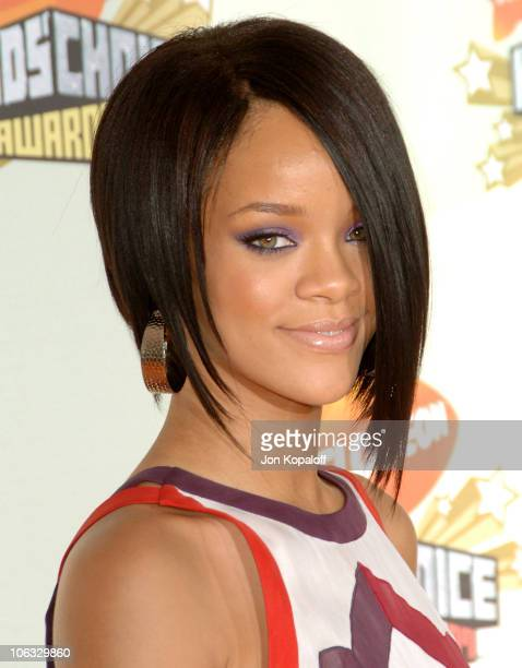 Rihanna during Nickelodeon's 20th Annual Kids' Choice Awards Arrivals at Pauley Pavilion UCLA in Westwood California United States