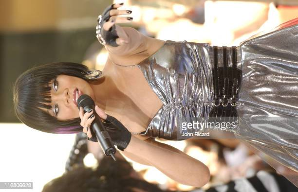 Rihanna during Rihanna performs at NBC's 'Today' show June 08 2007 at Rockefeller Center in New York NY United States