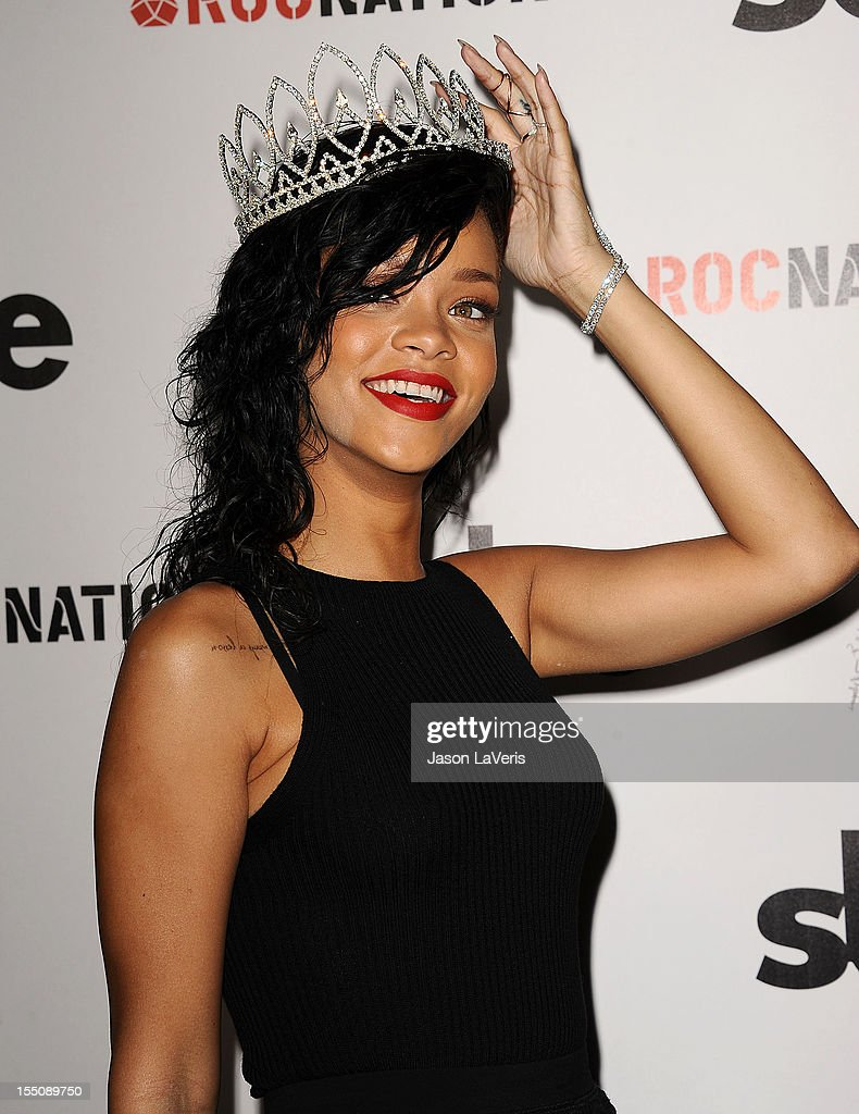 <a gi-track='captionPersonalityLinkClicked' href=/galleries/search?phrase=Rihanna&family=editorial&specificpeople=453439 ng-click='$event.stopPropagation()'>Rihanna</a> is crowned as Queen of the West Hollywood Halloween Carnaval at Greystone Manor Supperclub on October 31, 2012 in West Hollywood, California.
