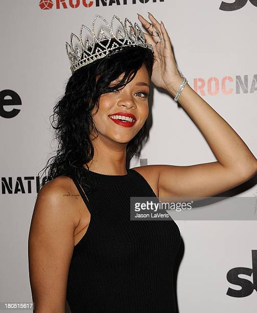Rihanna is crowned as Queen of the West Hollywood Halloween Carnaval at Greystone Manor Supperclub on October 31 2012 in West Hollywood California