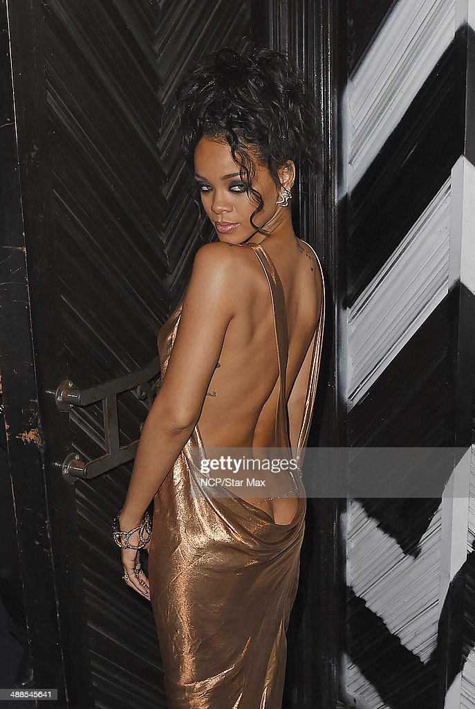 Rihanna is seen at the after-party for The Costume Institute Benefit Gala on May 5, 2014 in New York City.