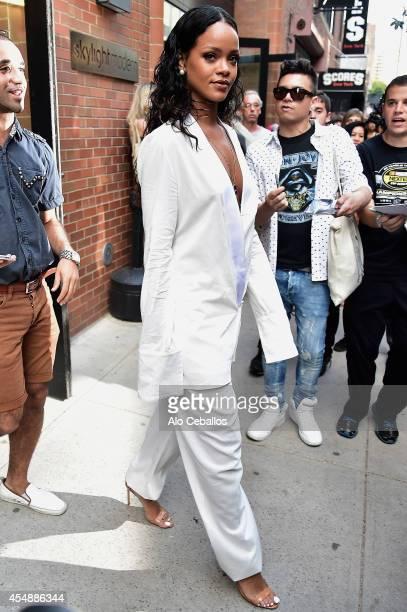 Rihanna is seen in Chelsea on September 7 2014 in New York City