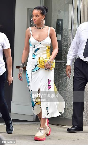 Rihanna is seen in Soho on May 31 2016 in New York City
