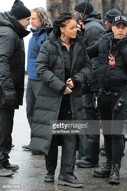 Rihanna is seen on January 24 2017 in New York City