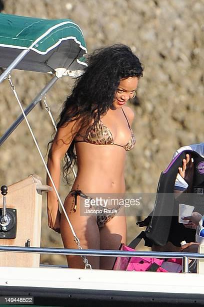 Rihanna is seen on July 28 2012 in Portofino Italy