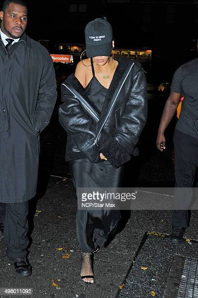 Rihanna is seen on November 19 2015 in New York City