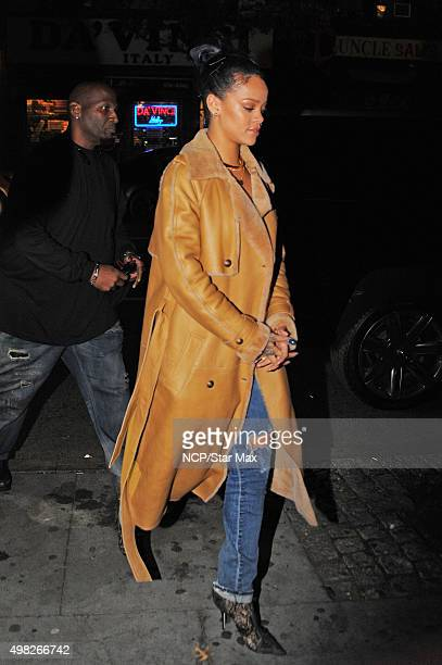 Rihanna is seen on November 21 2015 in New York City