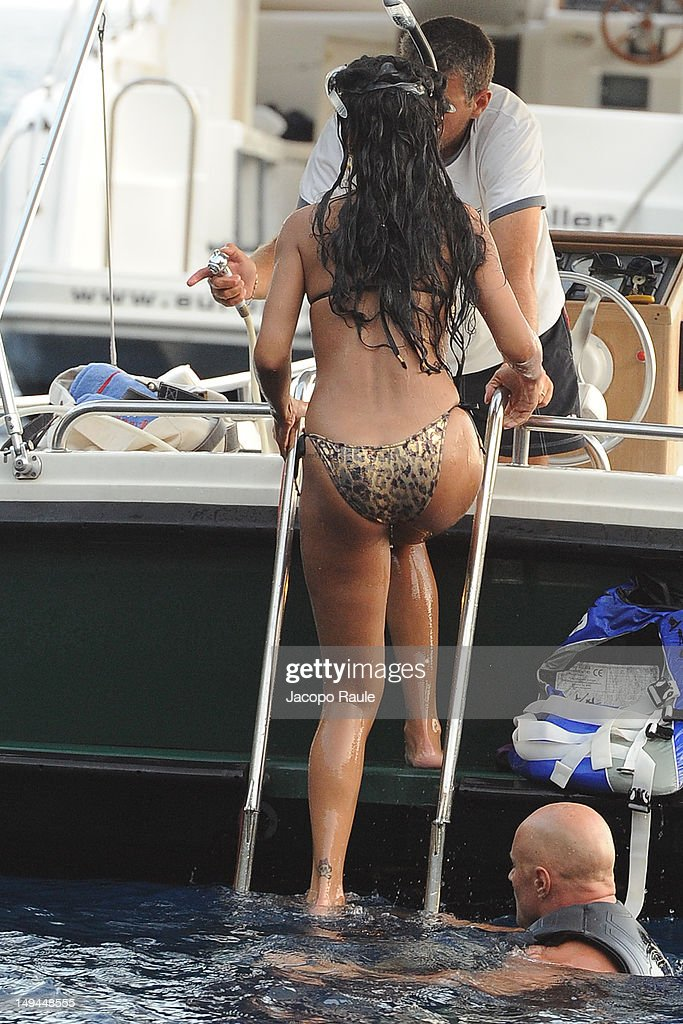 <a gi-track='captionPersonalityLinkClicked' href=/galleries/search?phrase=Rihanna&family=editorial&specificpeople=453439 ng-click='$event.stopPropagation()'>Rihanna</a> is seen wearing a bikini on July 28, 2012 in Portofino, Italy.