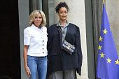 French President Emmanuel Macron Receives Rihanna