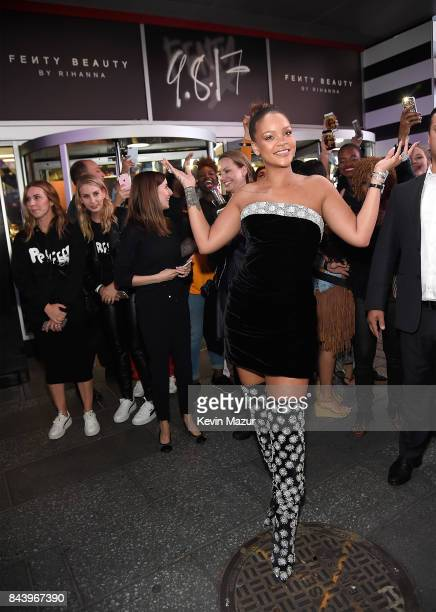 Rihanna launches Fenty Beauty at Sephora Times Square on September 7 2017 in New York New York