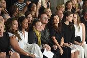 Rihanna Laurie Anderson Bono Ali Hewson and Eve Hewson attend Edun during MercedesBenz Fashion Week Spring 2015 at Skylight Modern on September 7...